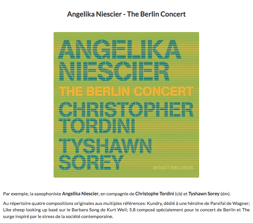 claude loxhay jazz halo reviews angelika niescier