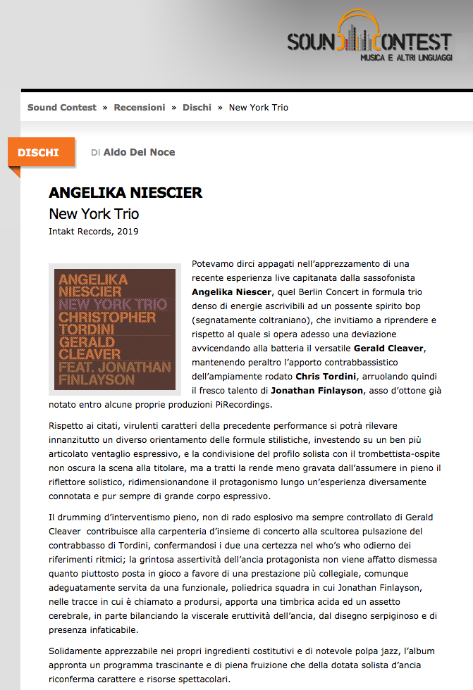 Aldo Del Noce reviews Angelika Neiscier